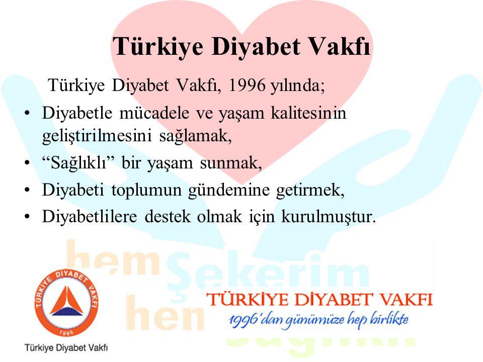 Türkiye Diyabet Vakfı Türkiye Diyabet Vakfı, 1996 yılında;