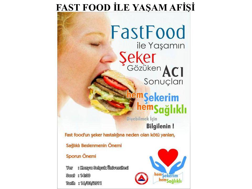FAST FOOD İLE YAŞAM AFİŞİ
