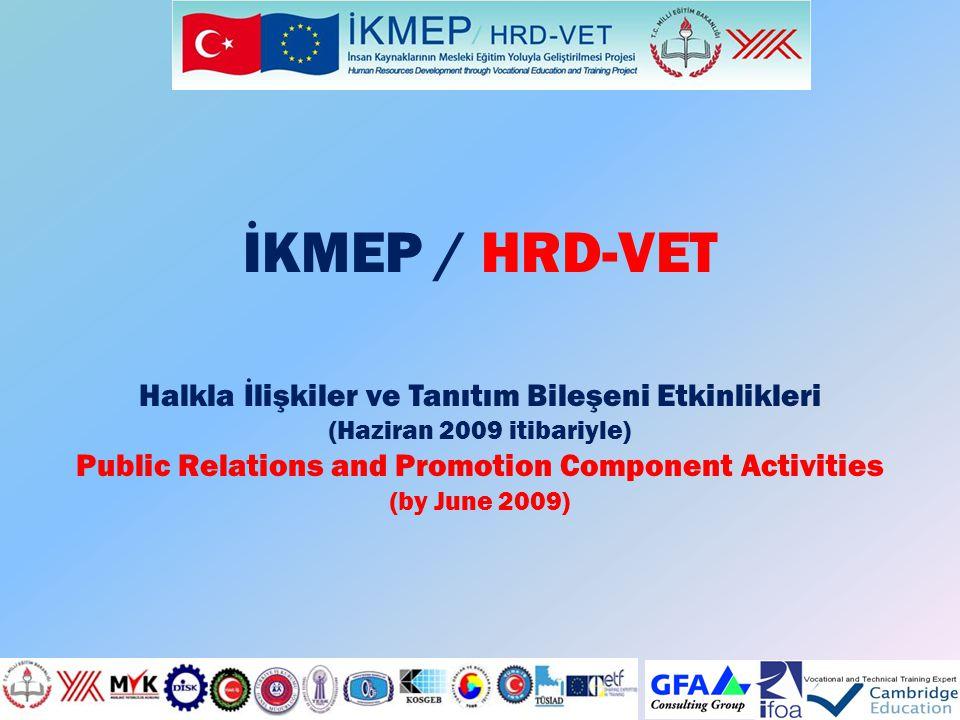 İKMEP / HRD-VET Halkla İlişkiler ve Tanıtım Bileşeni Etkinlikleri