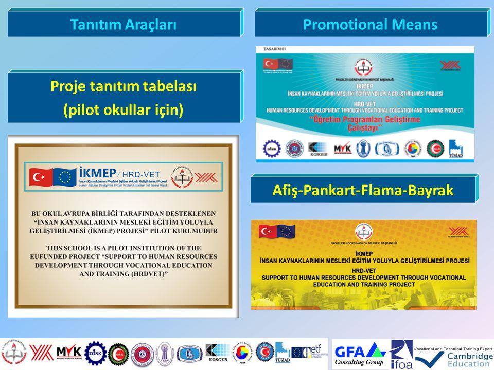 Proje tanıtım tabelası Afiş-Pankart-Flama-Bayrak