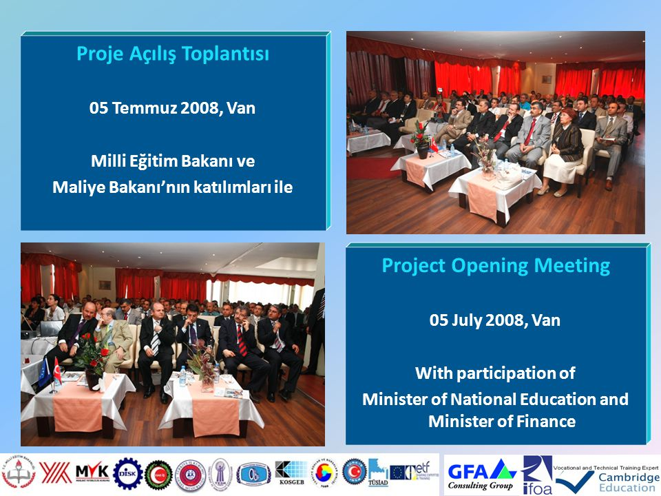 Proje Açılış Toplantısı Project Opening Meeting