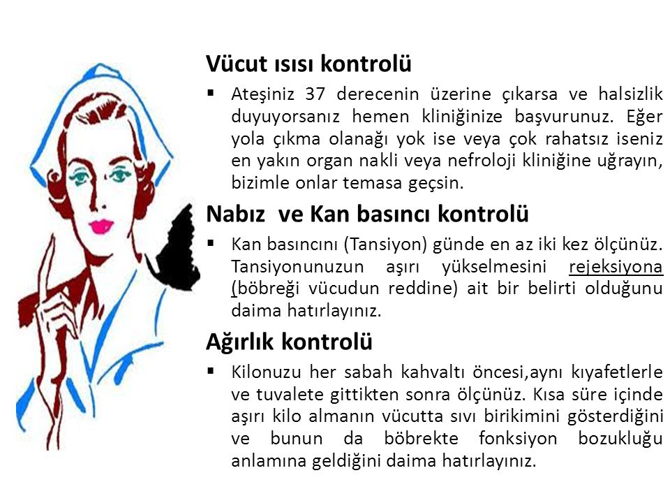 Nabız ve Kan basıncı kontrolü
