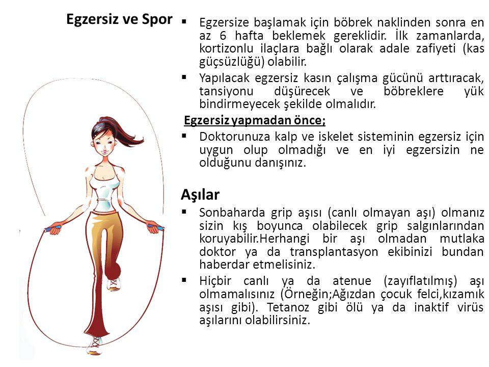 Aşılar Egzersiz ve Spor