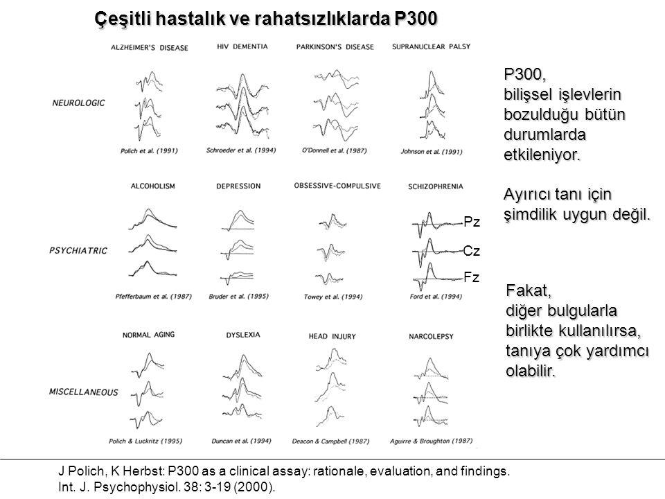 Çeşitli hastalık ve rahatsızlıklarda P300