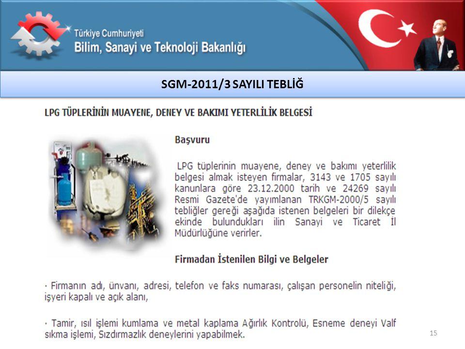 SGM-2011/3 SAYILI TEBLİĞ 15