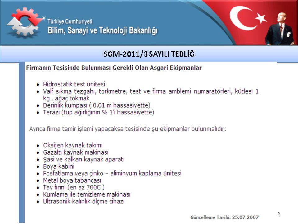 SGM-2011/3 SAYILI TEBLİĞ 16
