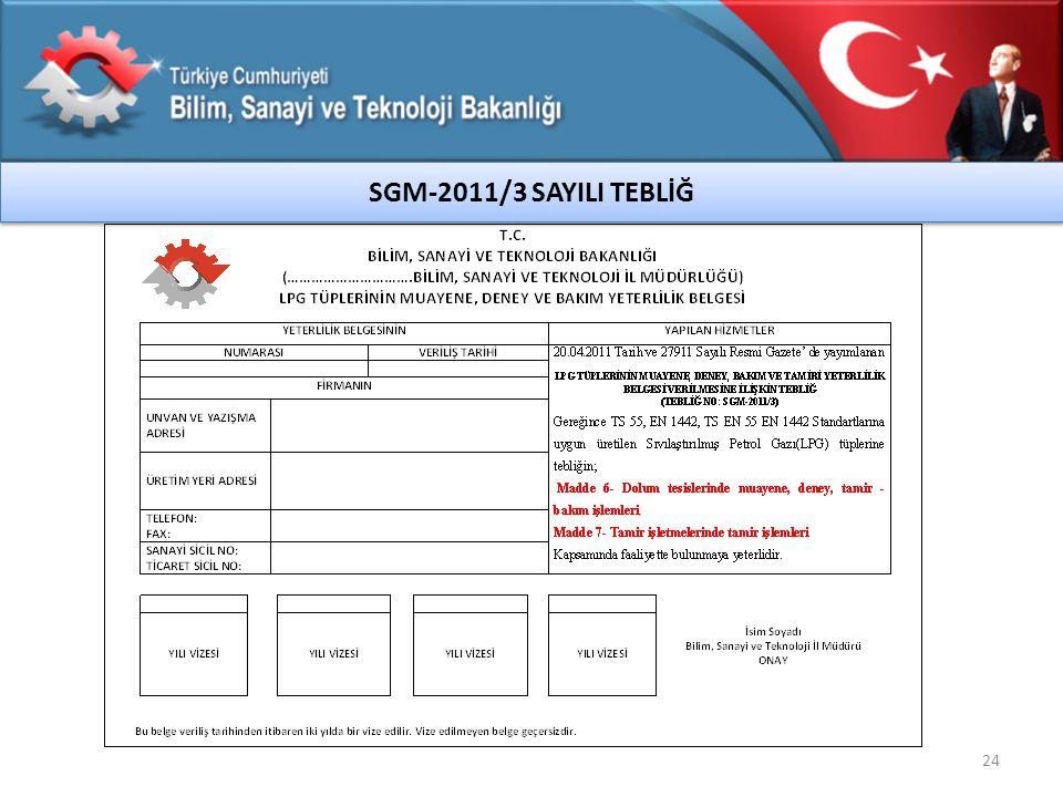 SGM-2011/3 SAYILI TEBLİĞ 24