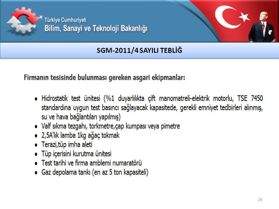 SGM-2011/4 SAYILI TEBLİĞ 26