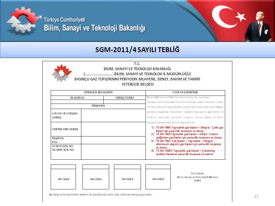 SGM-2011/4 SAYILI TEBLİĞ 37