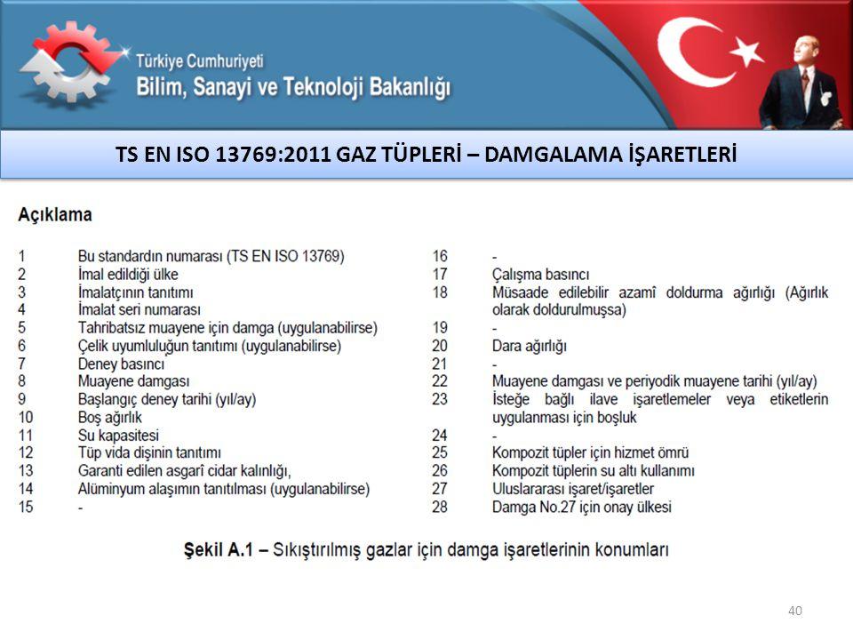 TS EN ISO 13769:2011 GAZ TÜPLERİ – DAMGALAMA İŞARETLERİ