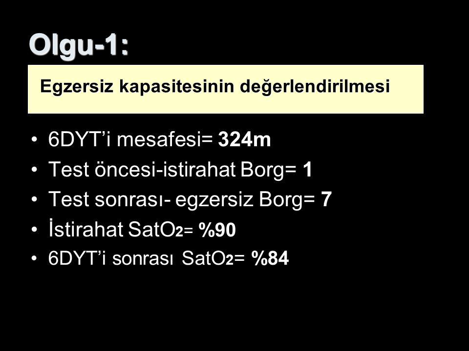 Olgu-1: 6DYT'i mesafesi= 324m Test öncesi-istirahat Borg= 1