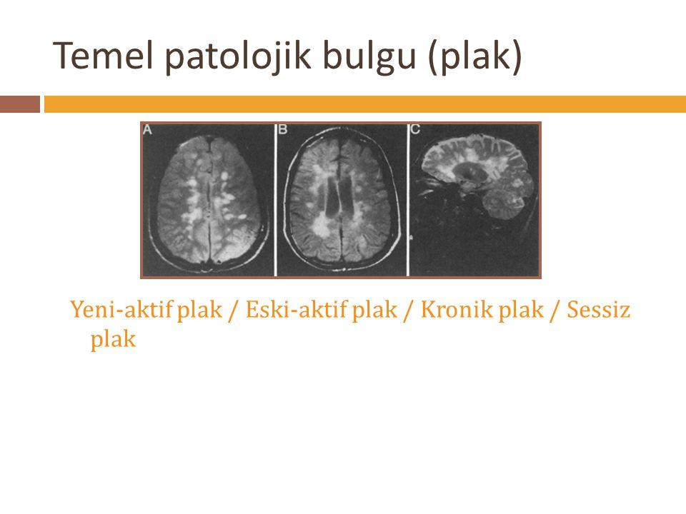 Temel patolojik bulgu (plak)