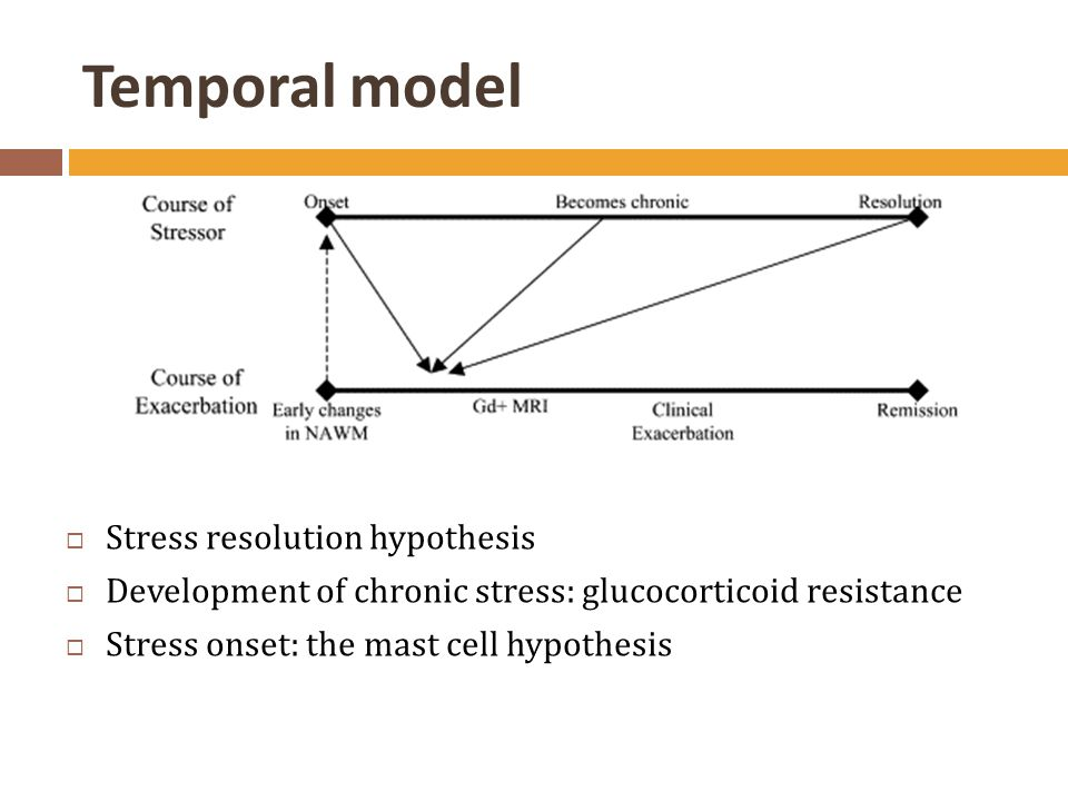 Temporal model Stress resolution hypothesis