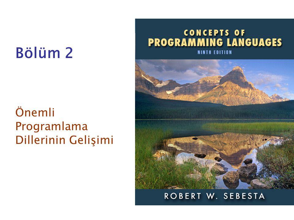 Önemli Programlama Dillerinin Gelişimi
