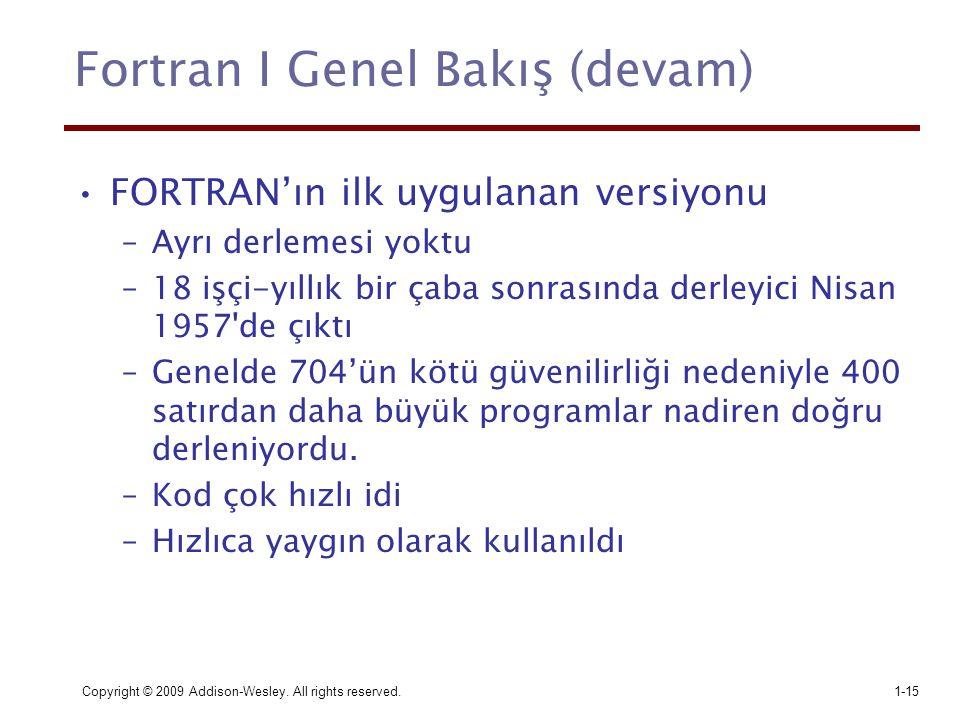 Fortran I Genel Bakış (devam)