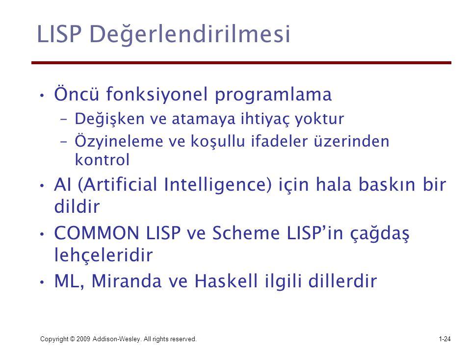LISP Değerlendirilmesi