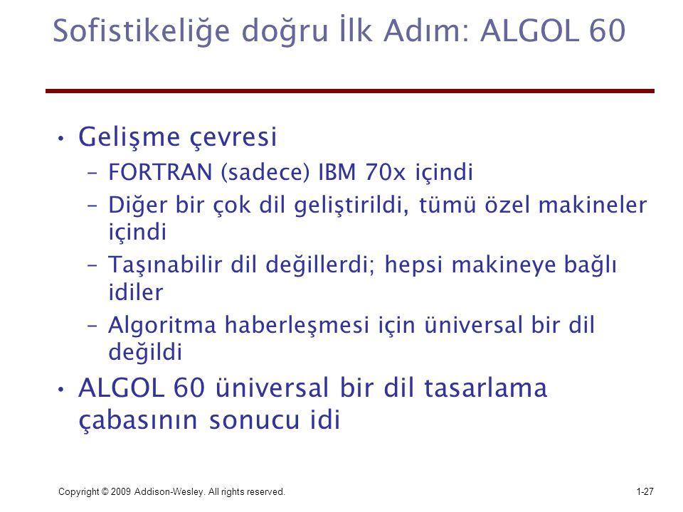 Sofistikeliğe doğru İlk Adım: ALGOL 60