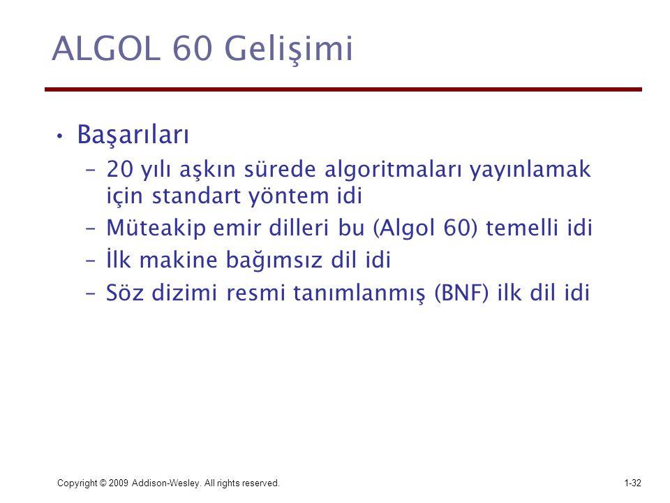 ALGOL 60 Gelişimi Başarıları