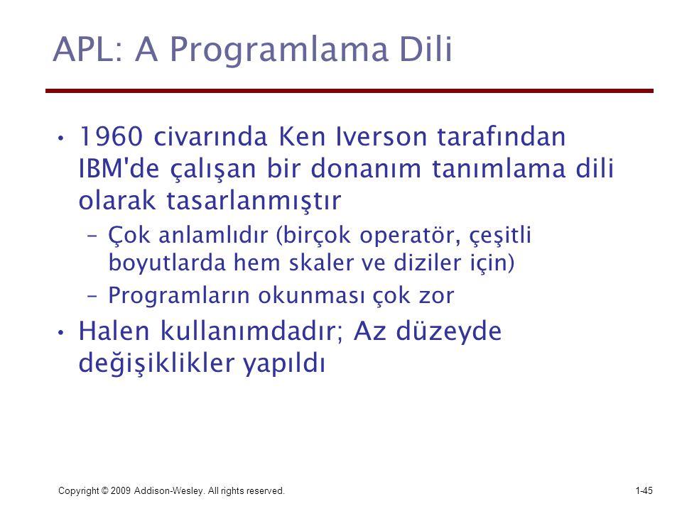 APL: A Programlama Dili