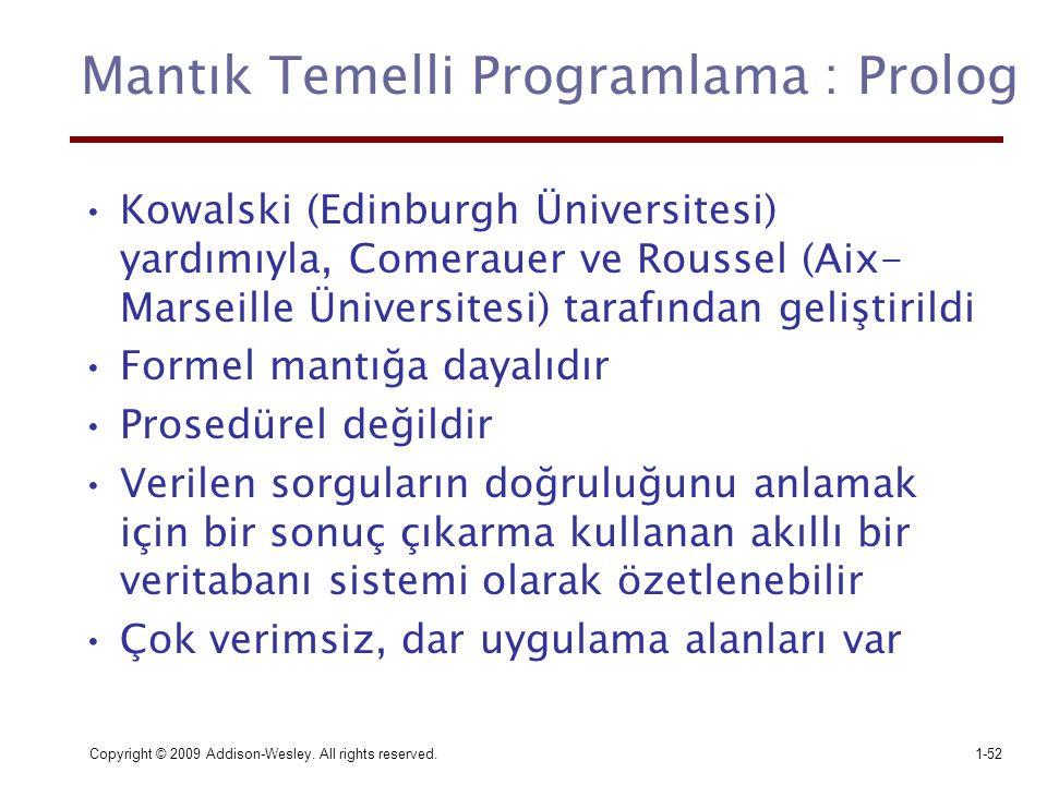 Mantık Temelli Programlama : Prolog