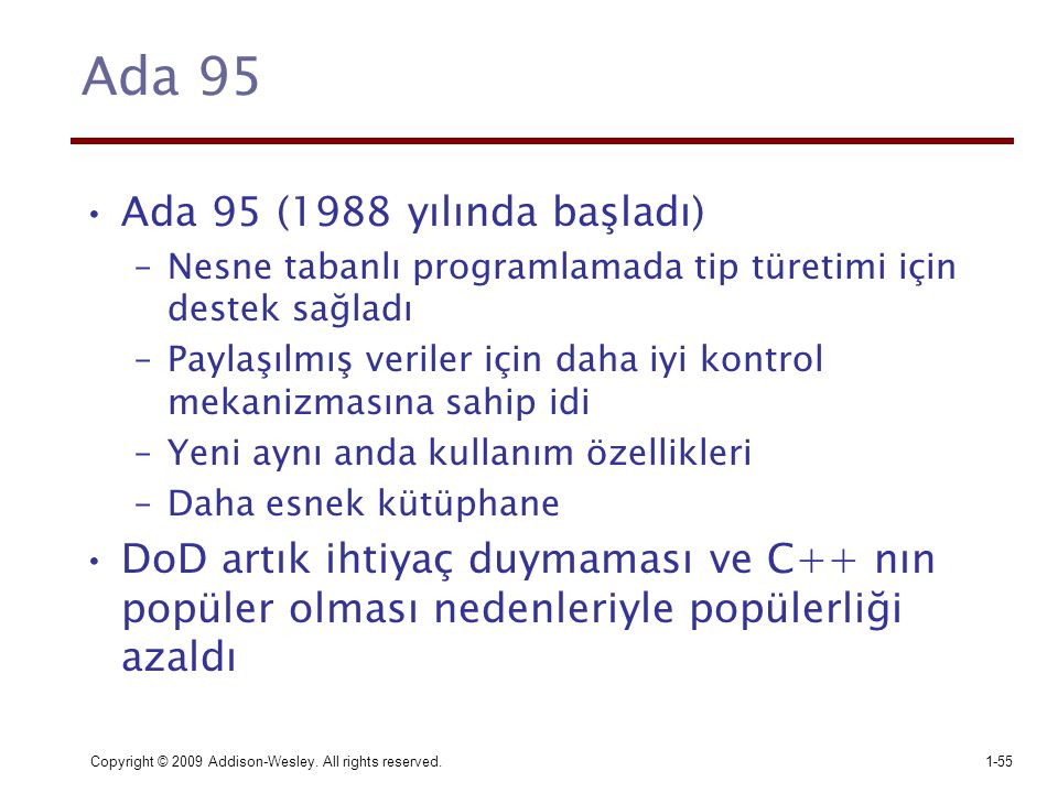 Ada 95 Ada 95 (1988 yılında başladı)