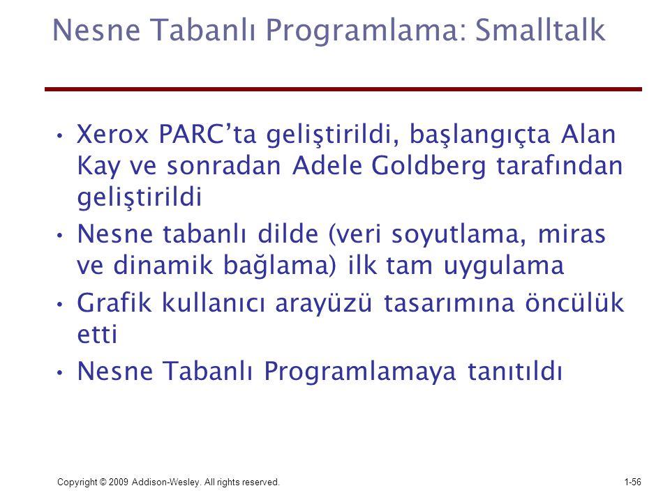 Nesne Tabanlı Programlama: Smalltalk