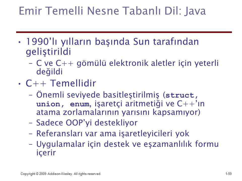 Emir Temelli Nesne Tabanlı Dil: Java