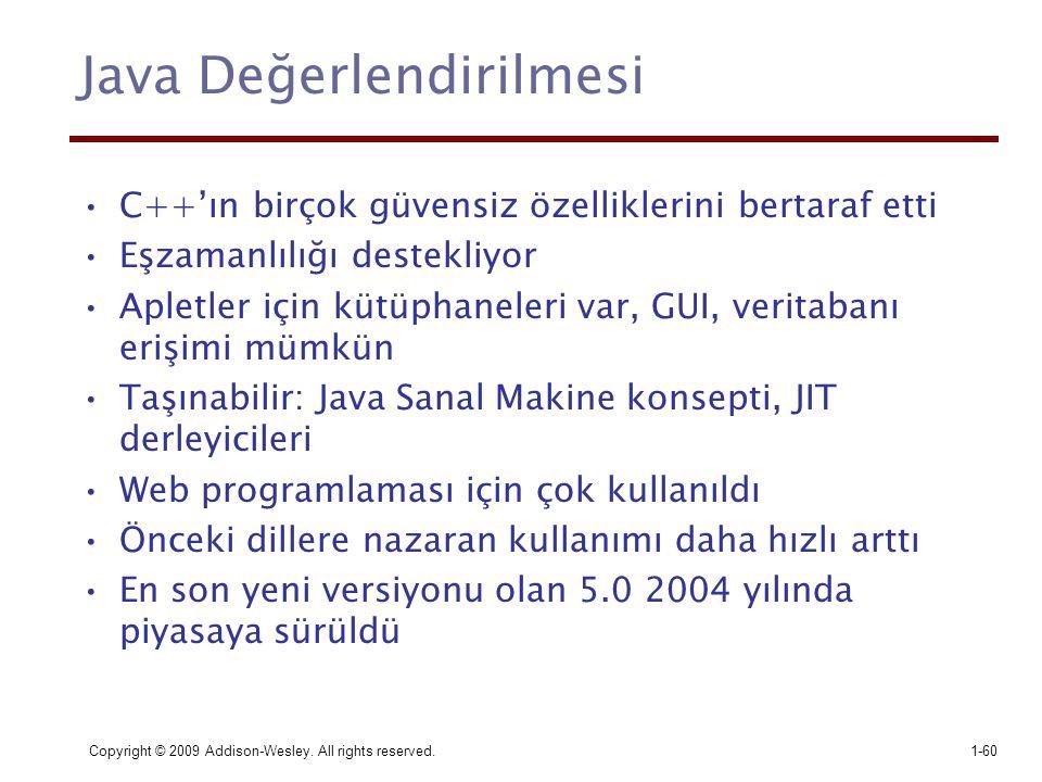 Java Değerlendirilmesi