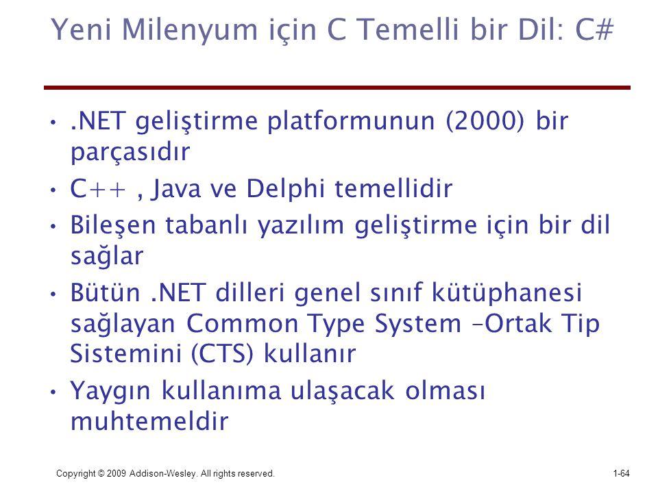 Yeni Milenyum için C Temelli bir Dil: C#