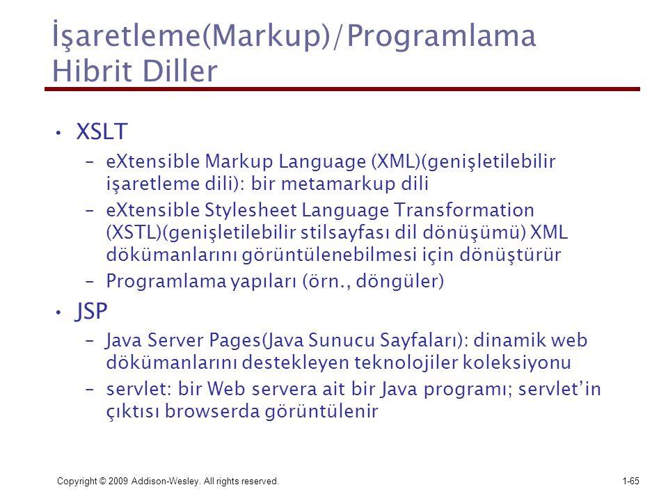 İşaretleme(Markup)/Programlama Hibrit Diller