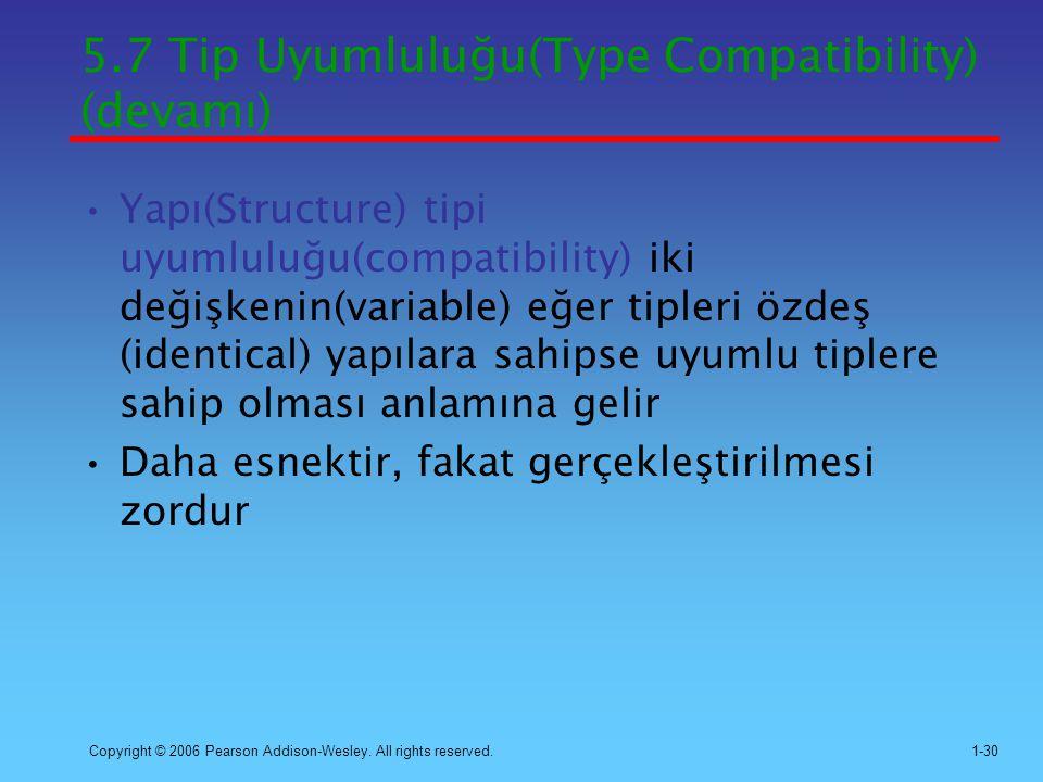 5.7 Tip Uyumluluğu(Type Compatibility) (devamı)