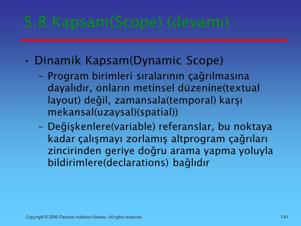 5.8 Kapsam(Scope) (devamı)