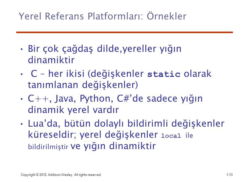 Yerel Referans Platformları: Örnekler