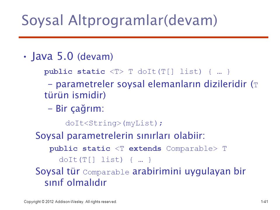 Soysal Altprogramlar(devam)