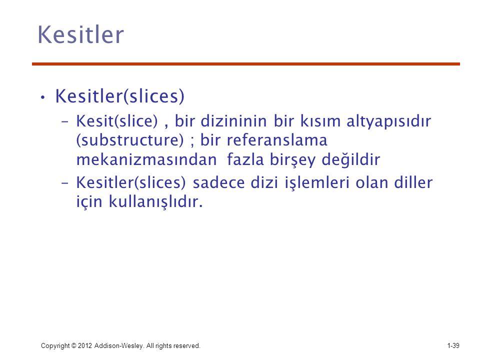 Kesitler Kesitler(slices)