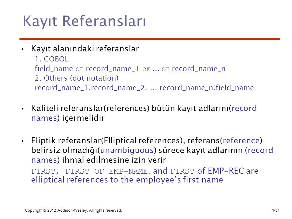 Kayıt Referansları Kayıt alanındaki referanslar