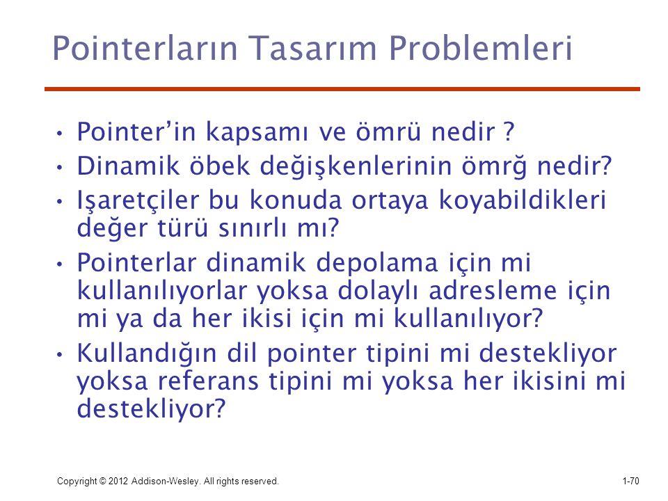 Pointerların Tasarım Problemleri