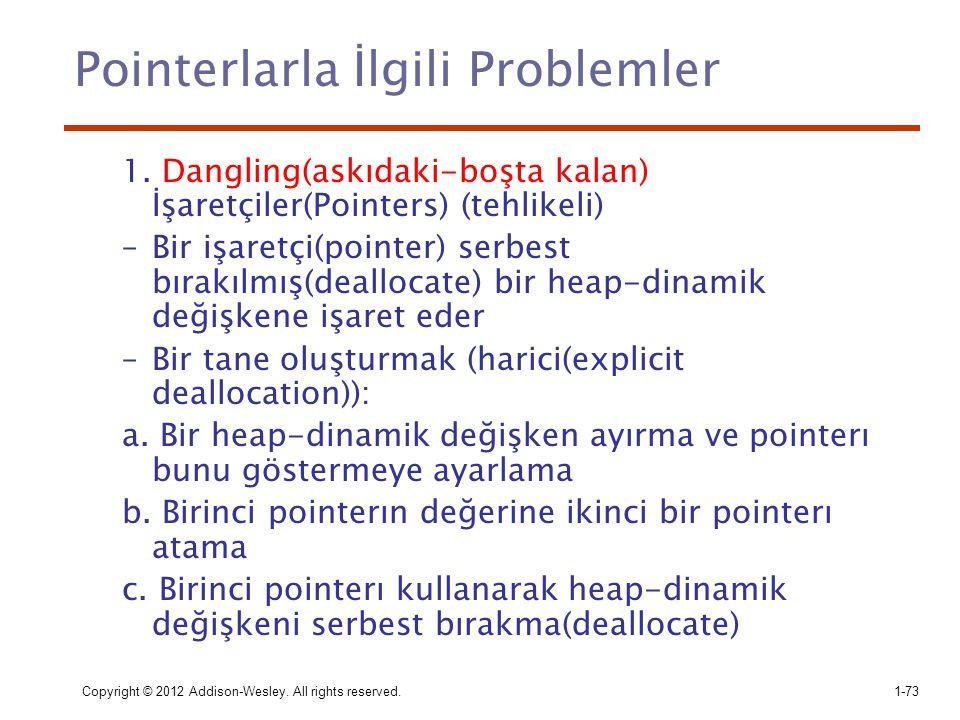 Pointerlarla İlgili Problemler
