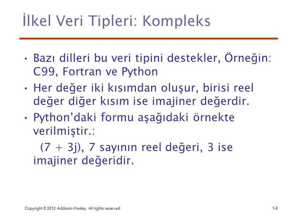 İlkel Veri Tipleri: Kompleks