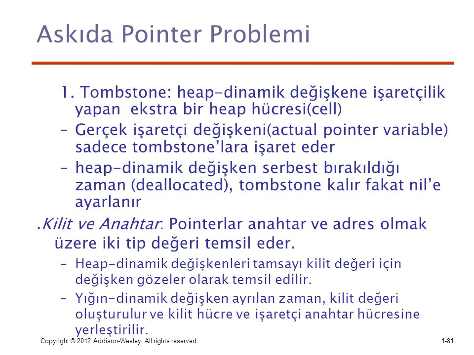 Askıda Pointer Problemi