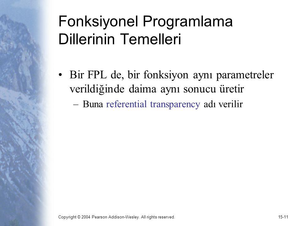 Fonksiyonel Programlama Dillerinin Temelleri