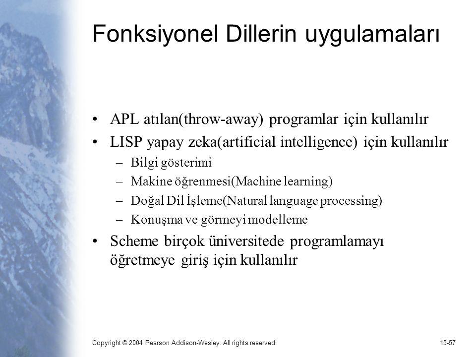 Fonksiyonel Dillerin uygulamaları