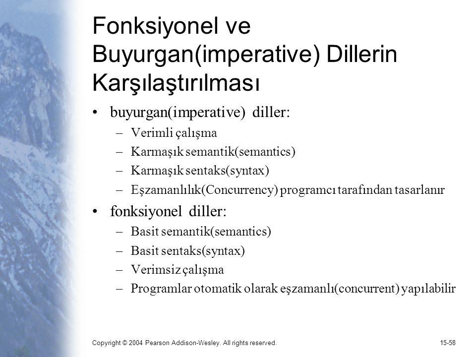 Fonksiyonel ve Buyurgan(imperative) Dillerin Karşılaştırılması
