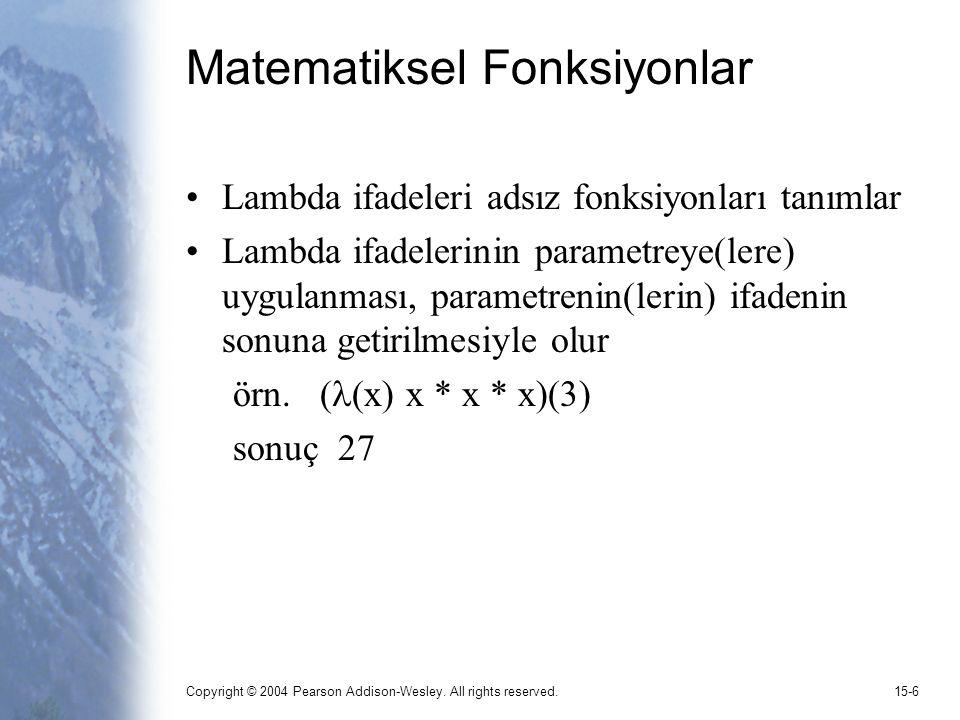 Matematiksel Fonksiyonlar