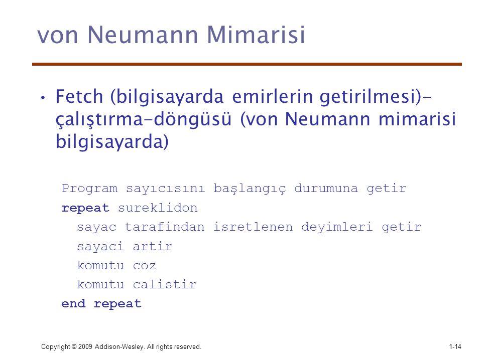 von Neumann Mimarisi Fetch (bilgisayarda emirlerin getirilmesi)-çalıştırma-döngüsü (von Neumann mimarisi bilgisayarda)