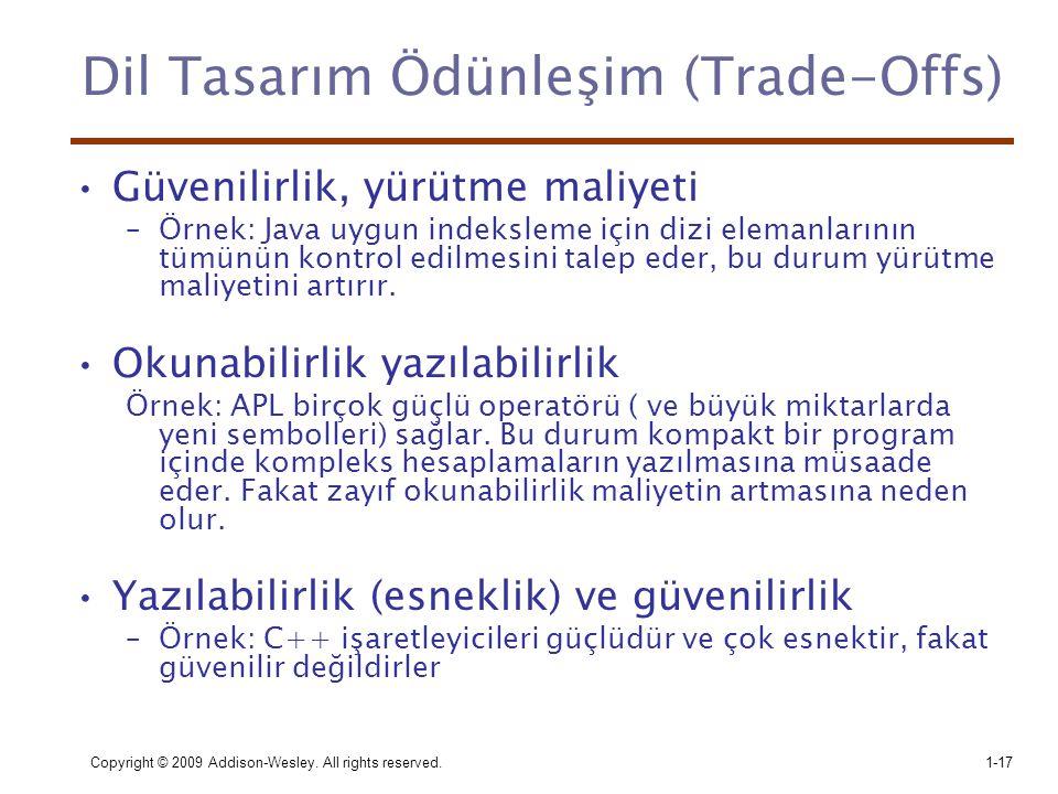 Dil Tasarım Ödünleşim (Trade-Offs)