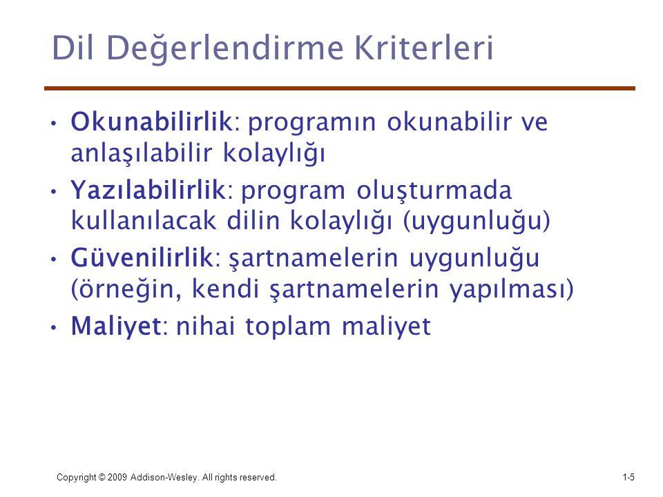Dil Değerlendirme Kriterleri
