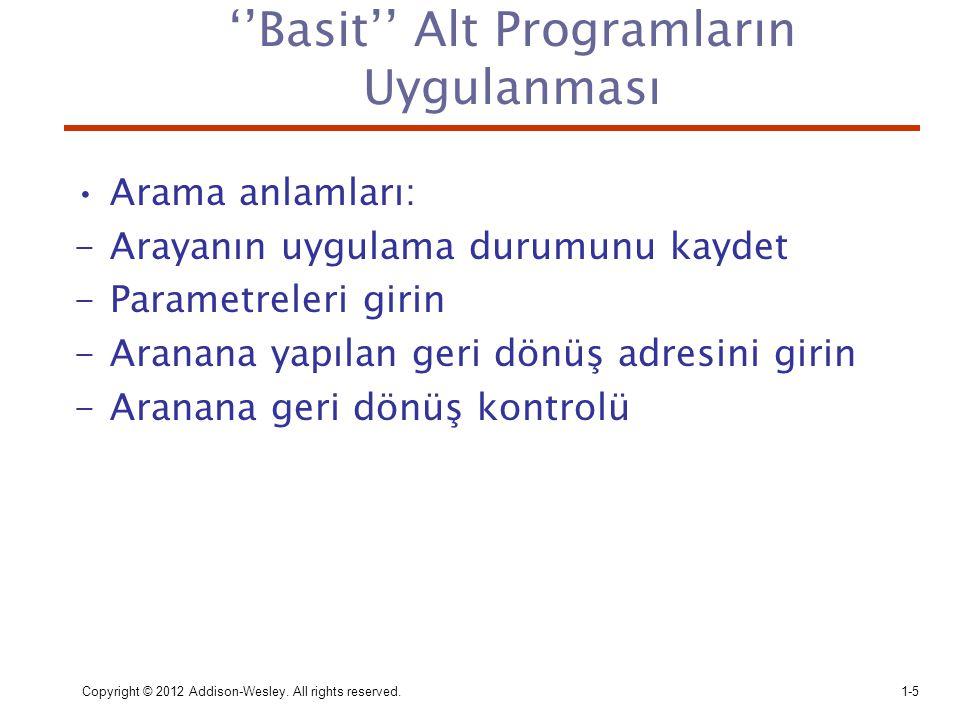 ''Basit'' Alt Programların Uygulanması