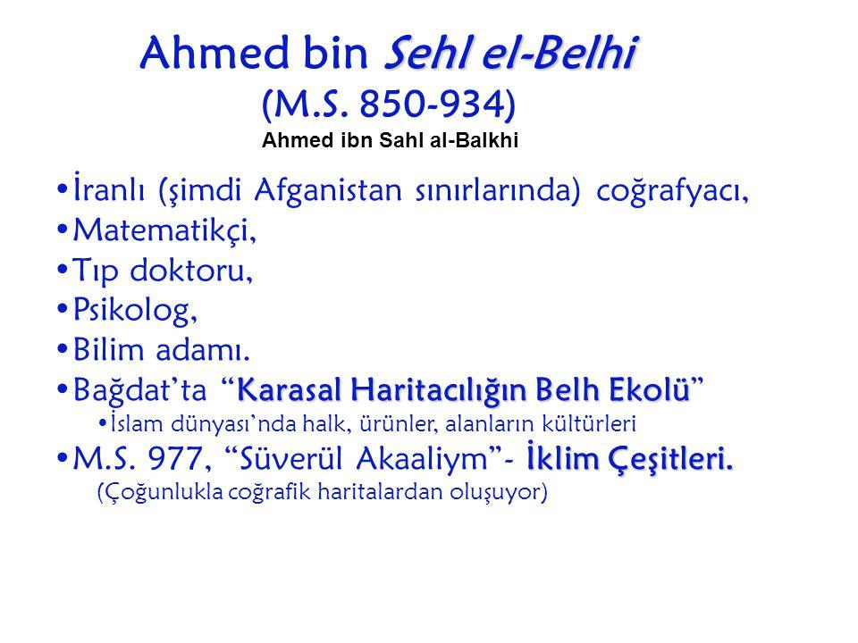 Ahmed bin Sehl el-Belhi Ahmed ibn Sahl al-Balkhi