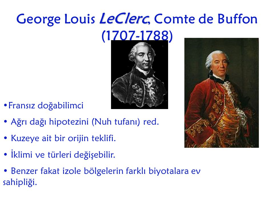 George Louis LeClerc, Comte de Buffon (1707-1788)
